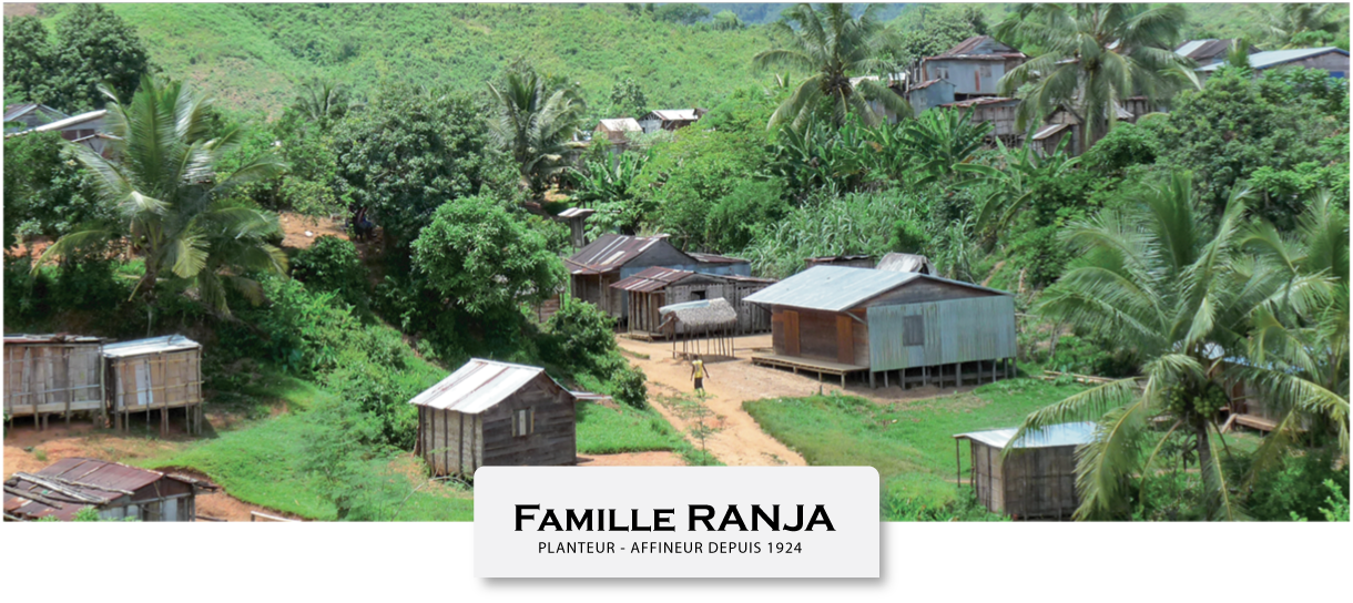 Village of Betavilona location of the LAVANY Bourbon plantation in Madagascar